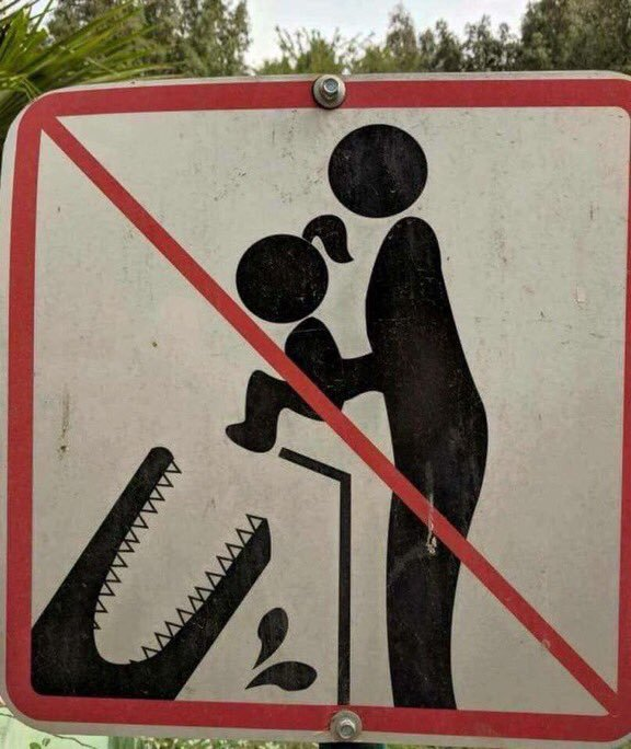Don't feed the crocs