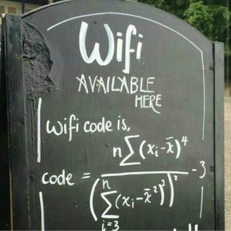 Free Wifi for Maths students only! :-)