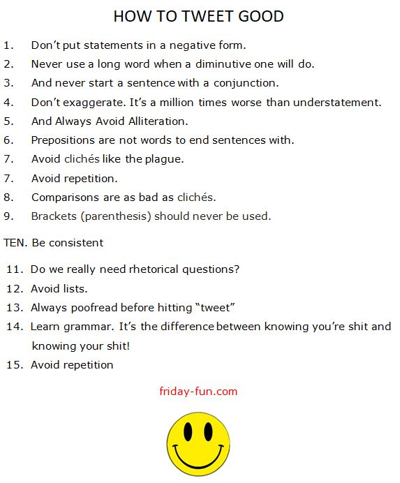 Tips for tweeting