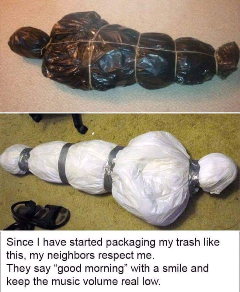 Wrapping Rubbish