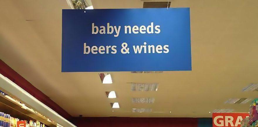 Baby needs beer