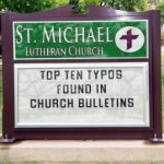 Church bulletin typos