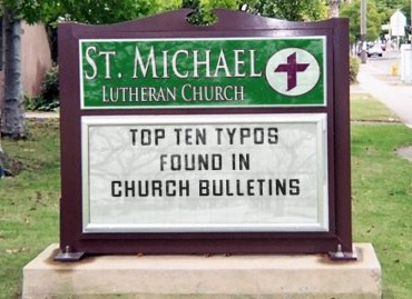 Church bulletin typos