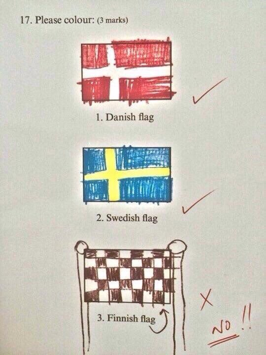 Isn't that the Finnish flag then?