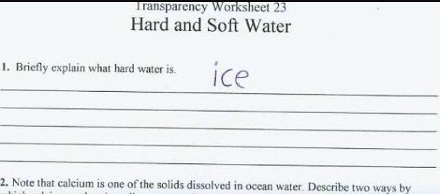 Briefly describe hard water!