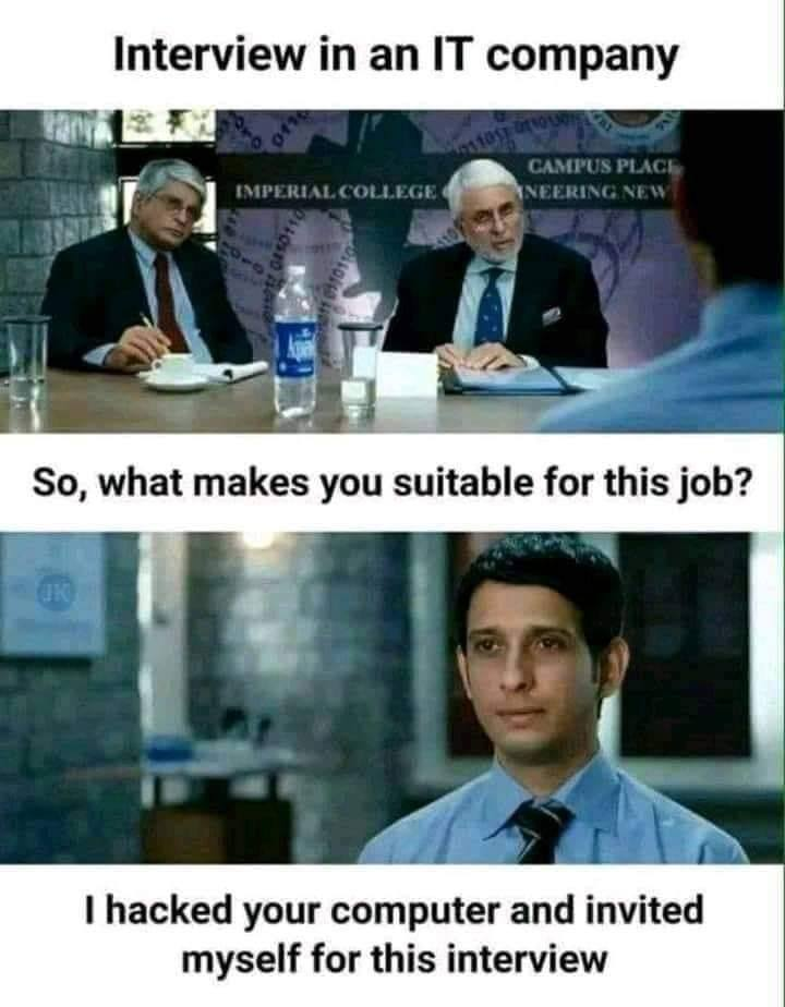 Give him the job! 😀