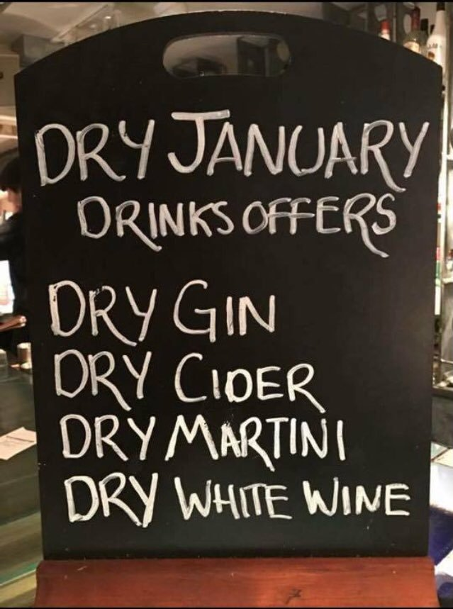How's Dry January going? 🍷