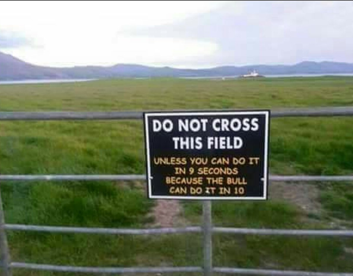 Do not cross this field! 🏃‍♂️