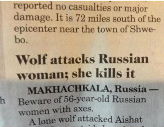 Meanwhile in Russia!