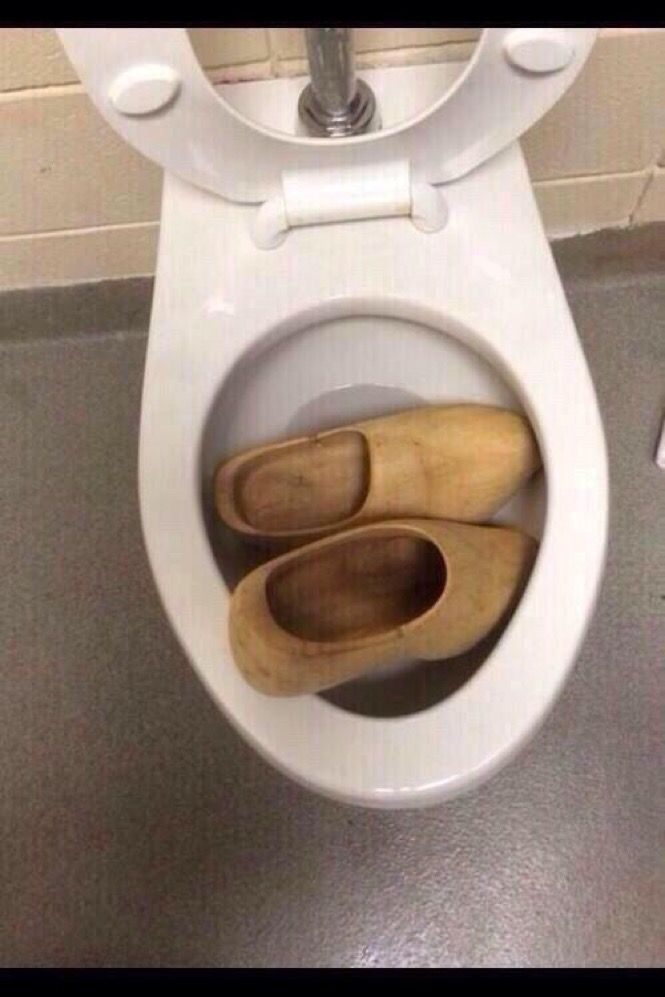 Someone clogged the toilet!