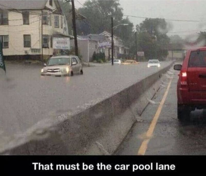 That'll be the car pool then!
