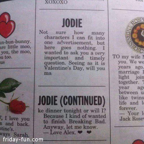 Happy Velentine's Day Jodie!