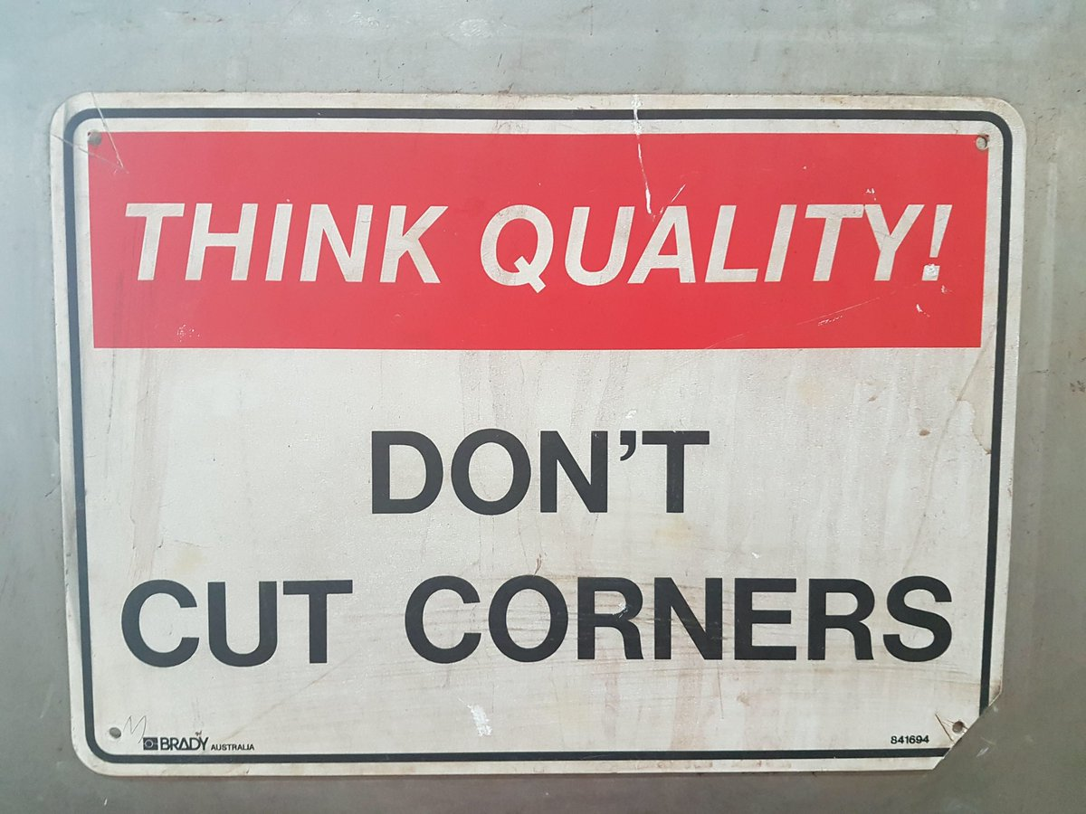 Excellent focus on quality ☺