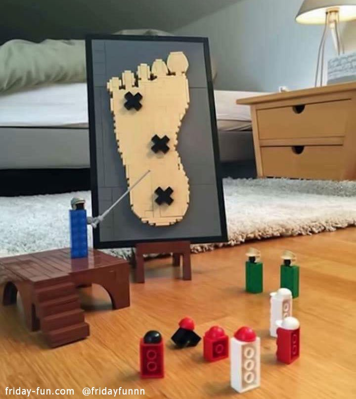 What Lego pieces do when we are not looking!