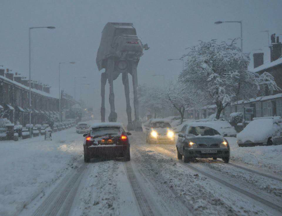 Bit weird driving home this evening ☺
