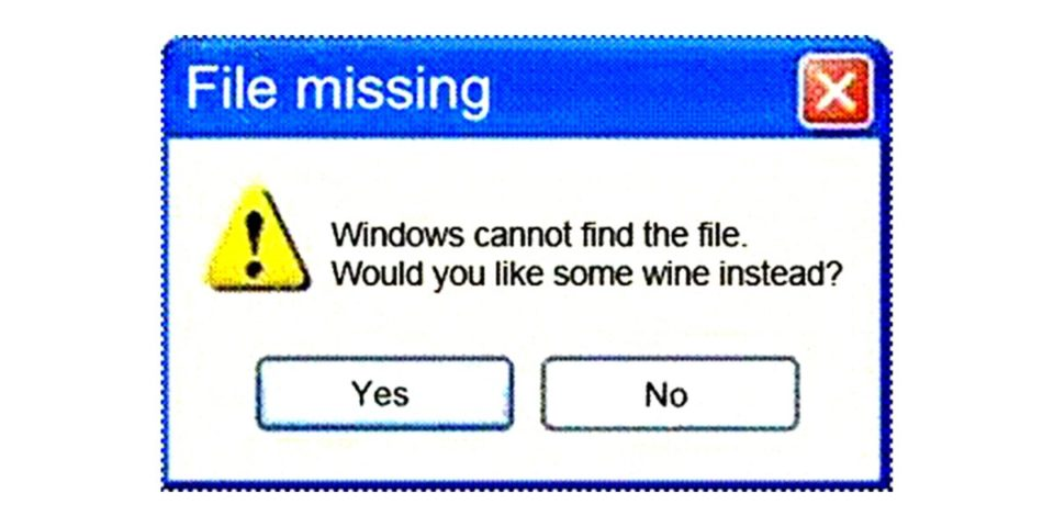 It's Friday! Computer has given up. What to do? 😀🍷