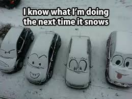 It's snowing - fun time!