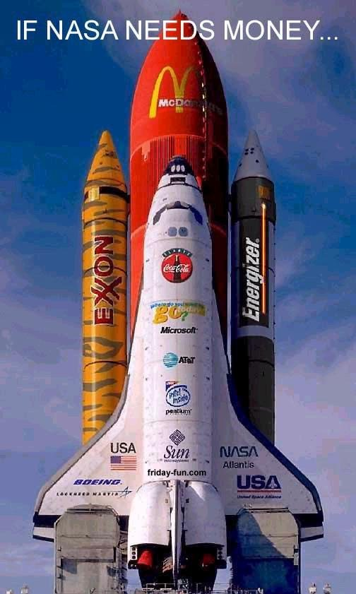 Sponsorship! The solution to NASA's financial problems?