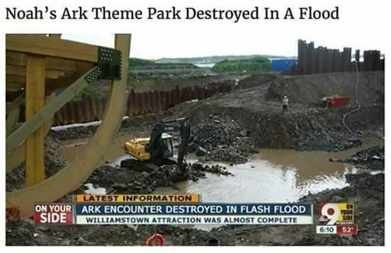 Noah's Ark theme park floods!