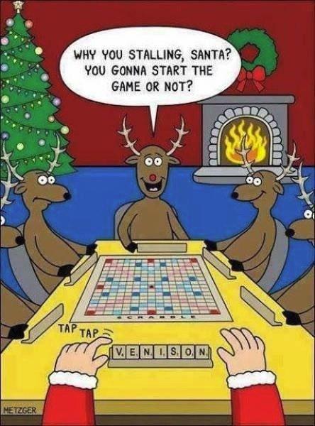 Slightly awkward moment for Santa! 😀