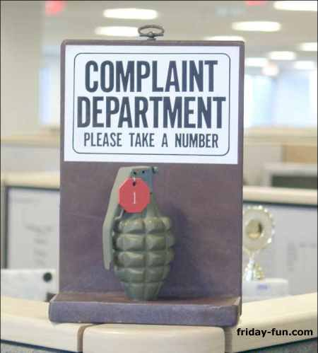 The new White House complaints department! 😀
