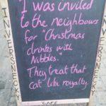 Christmas Nibbles - nice! 😹