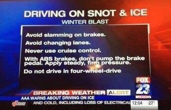 Snot and ice tips 😀