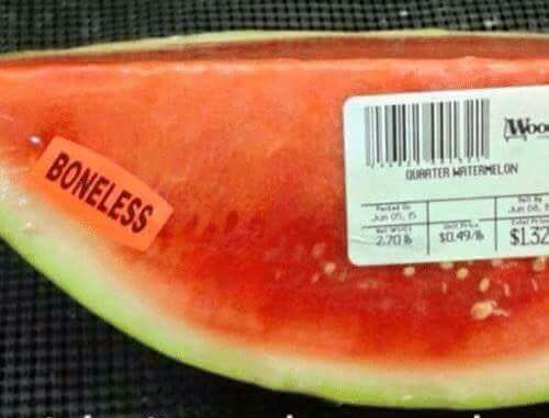 Don't you just hate bones in melon? Now you can buy them boneless! 😀