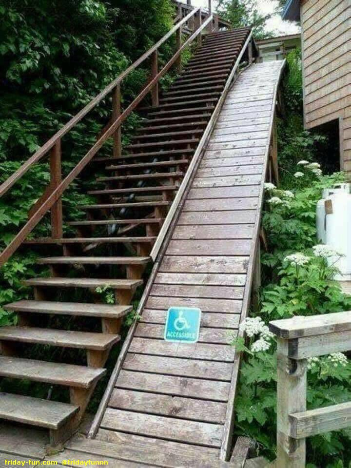 Hell of a disabled ramp! 😀
