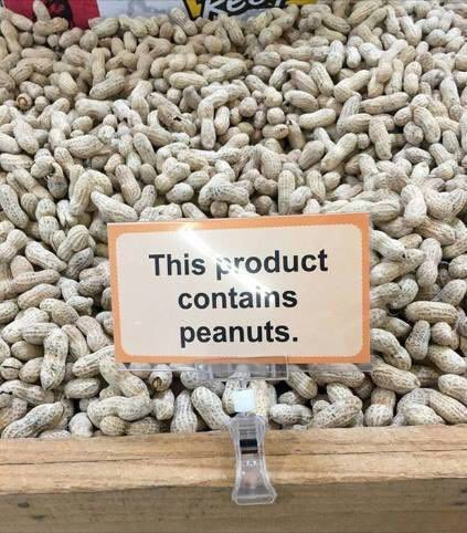 Contains peanuts! 😀