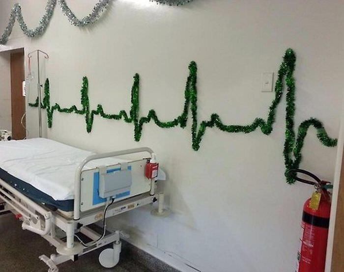 Hospital at Christmas 😀
