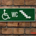 Disabled loo down the stairs. Genius! 😀