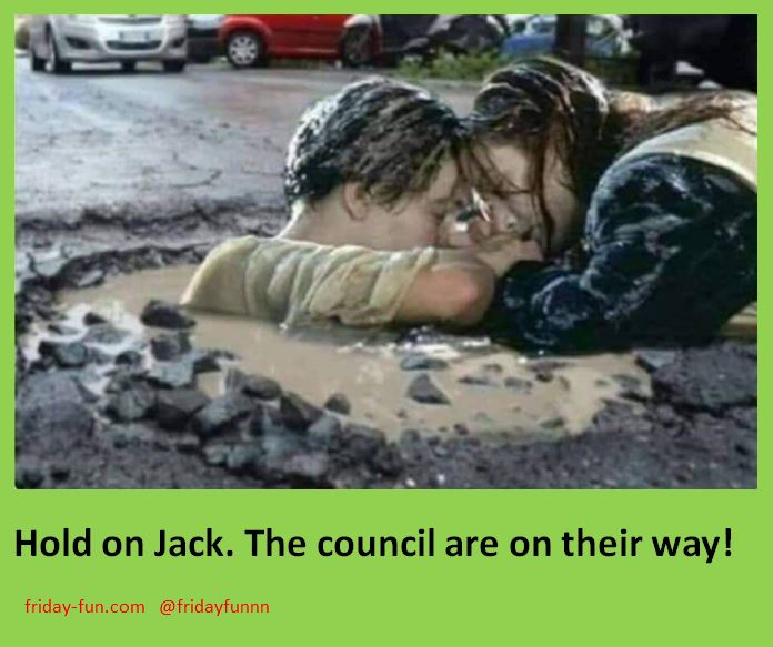 After the big melt in the UK, now the pothole problems emerge! 😀