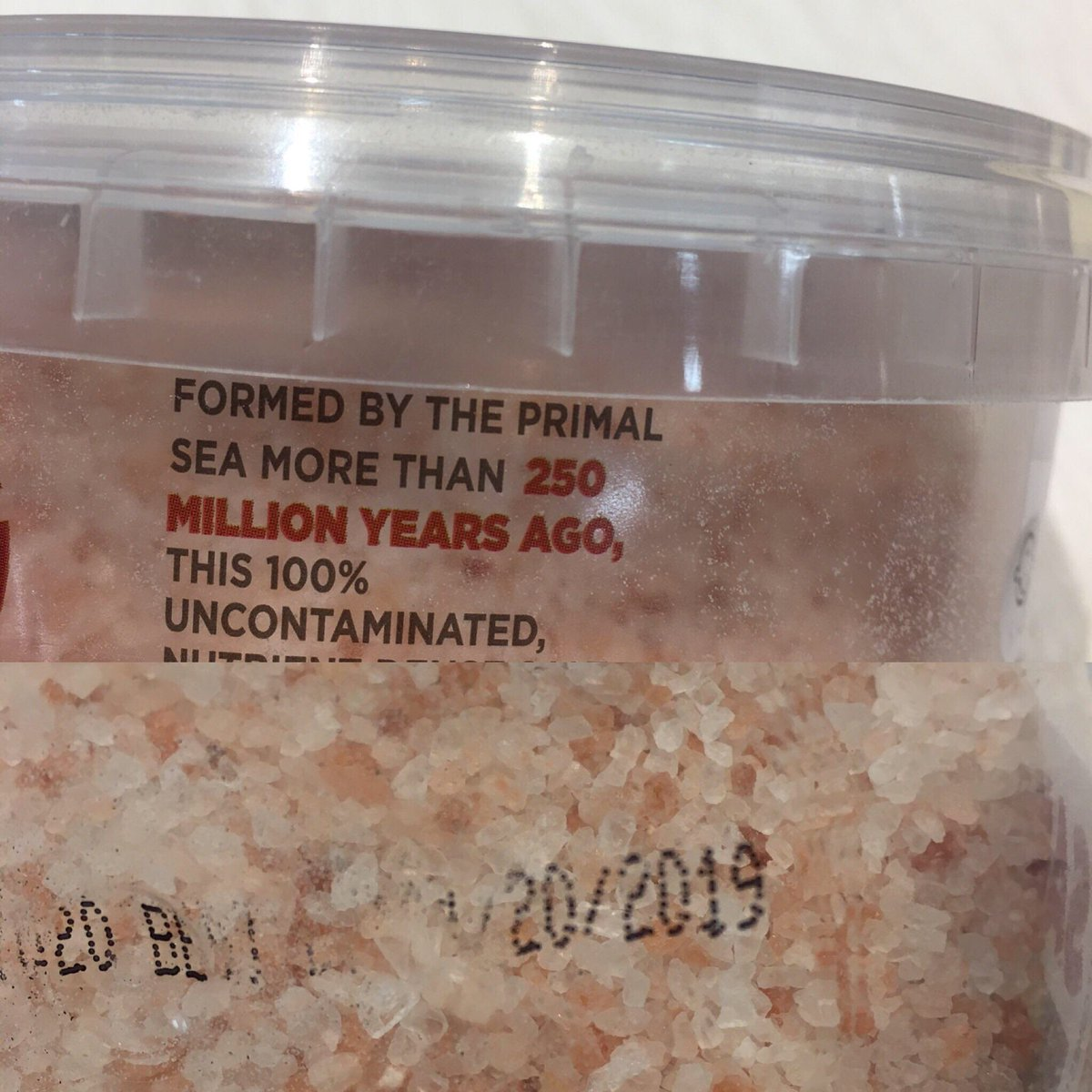Do we really need a Best Before Date on 250 million year old salt? 😃