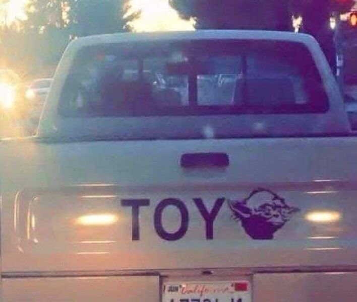 Very clever! 😀 Toy yoda!