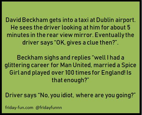 David Beckham! 😃