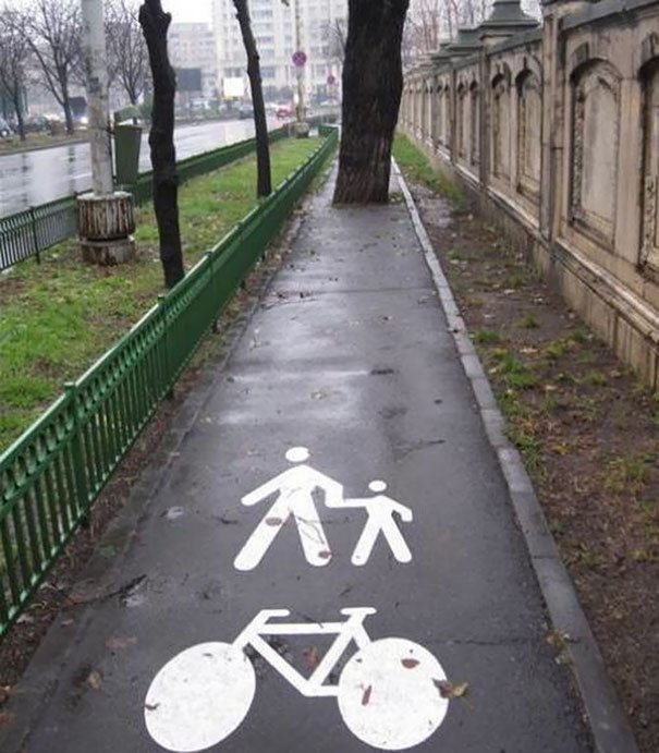 Ur .. Bike lane? Slight problem! 😁