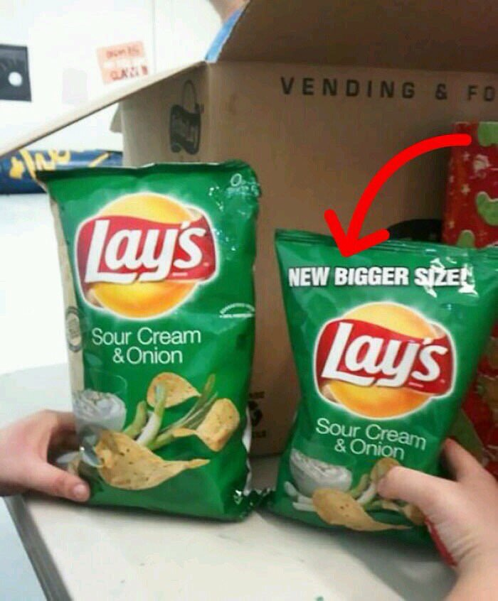 New bigger size? I beg to differ! 😀
