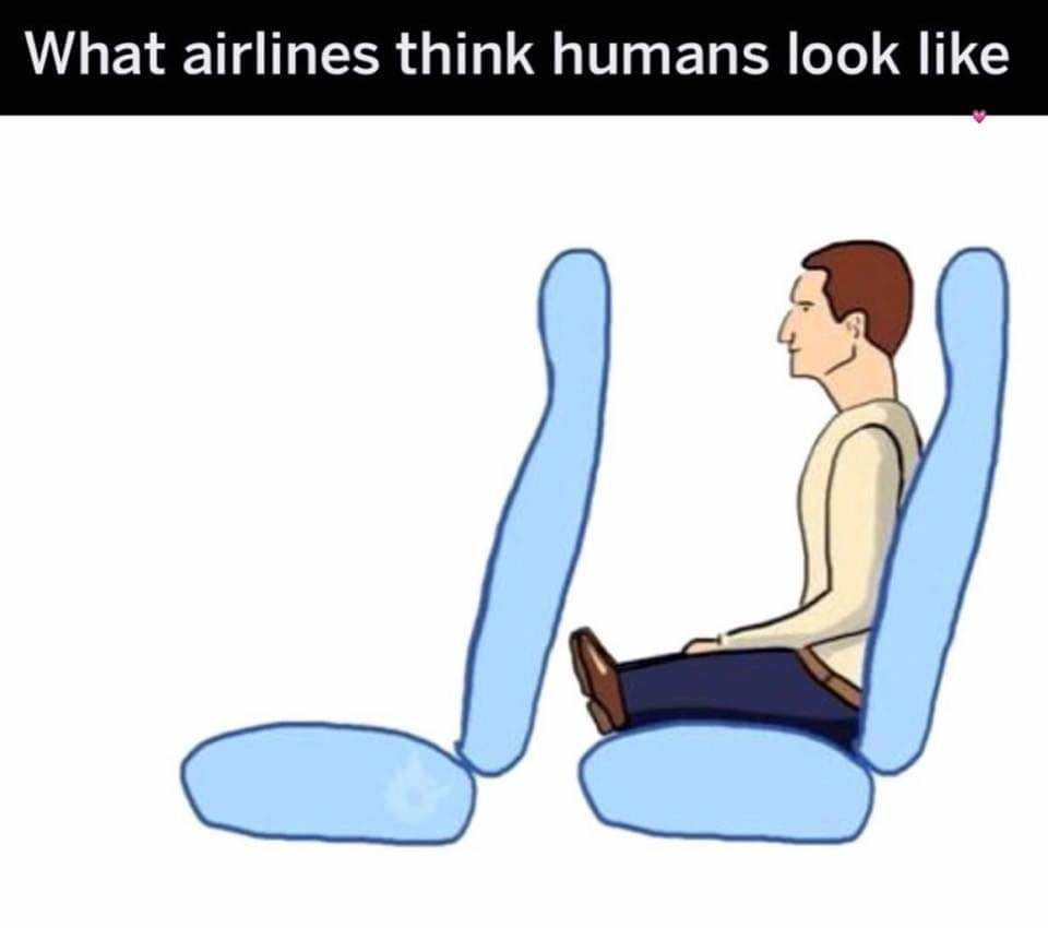 How airlines view humans!