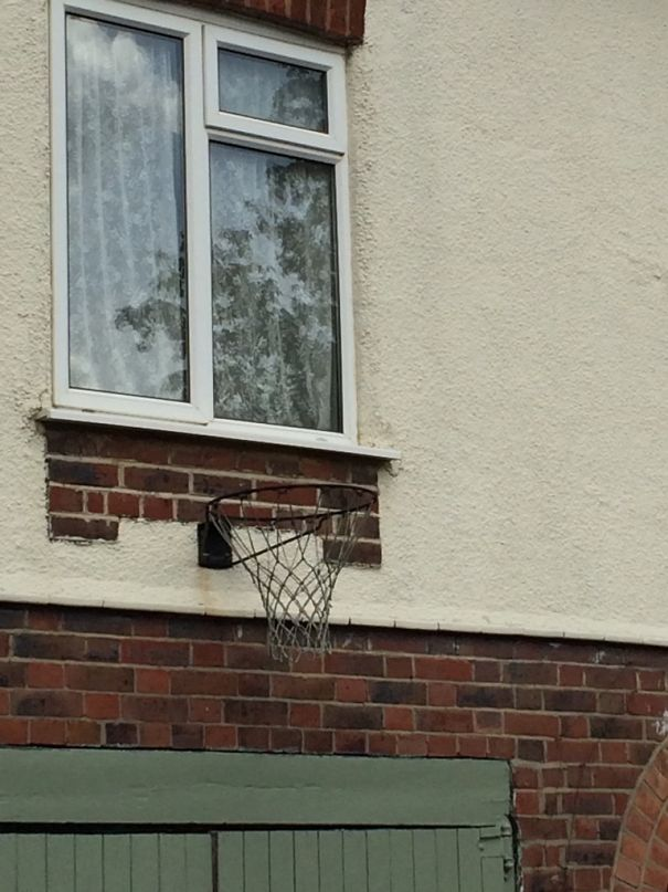 Is that the best place for a basketball hoop? 😀