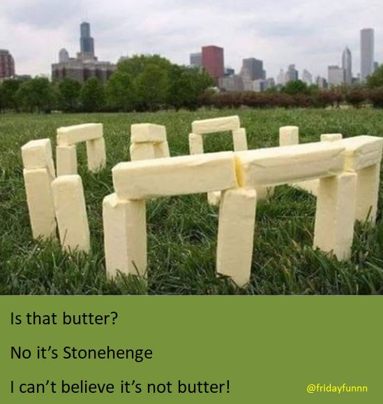 Had to spread this! I can't believe it's not butter! 😀