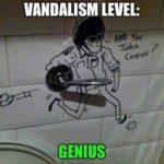 Vandalism level: Genius 😀