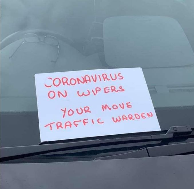 Love it! Your move, Traffic Warden! 😀