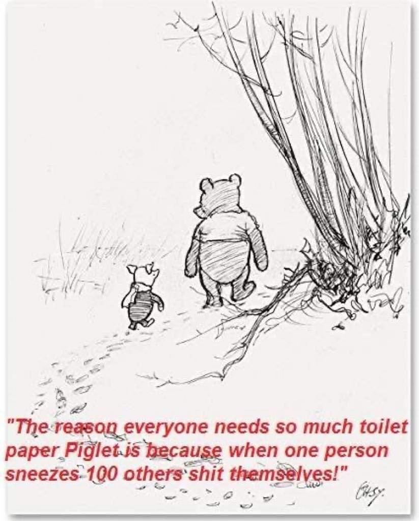 That explains the toilet paper problem! 😀