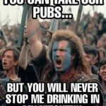UK Pubs now closed!