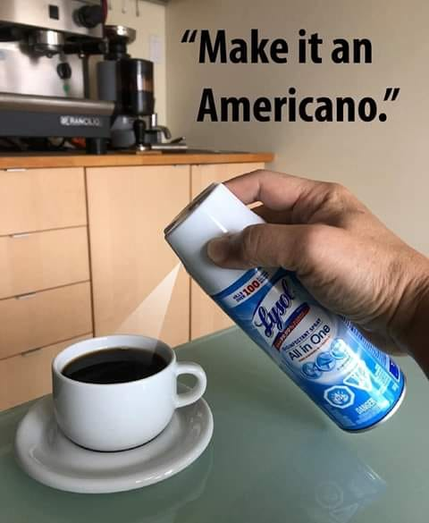 Not sure I want another 'Americano'! 😀
