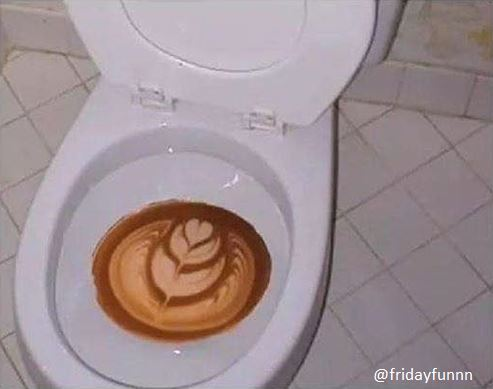 My coffee went right through me this morning! 😀