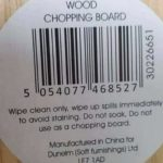 Chopping Board. Do not use as chopping board. Excellent! 😀