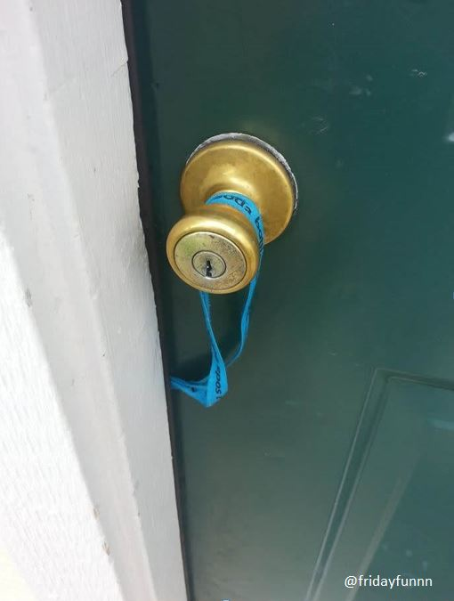 Is this THE most ironic way to lose your door key? 😀