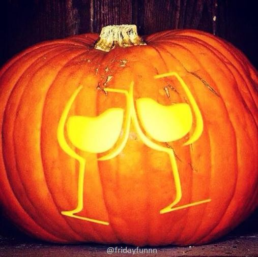 How wine lovers carve a pumpkin! 🎃🍷
